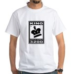 CHESS - RATED KING White T-Shirt