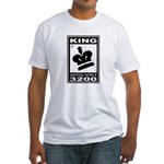CHESS - RATED KING Fitted T-Shirt