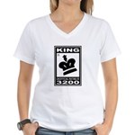 CHESS - RATED KING Women's V-Neck T-Shirt