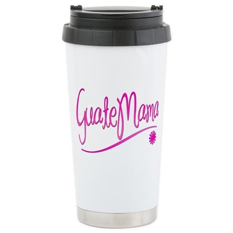 GuateMama Text Ceramic Travel Mug