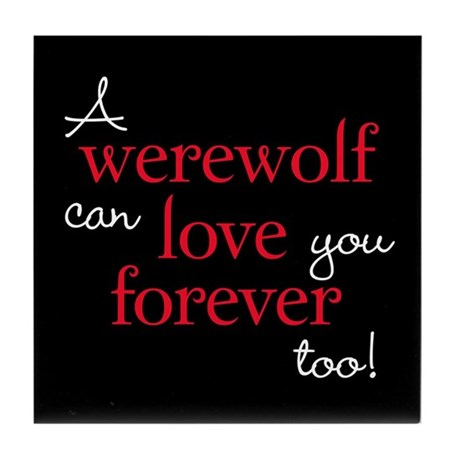 Werewolf Love Twilight Tile Coaster