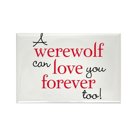 Werewolf Love Twilight Rectangle Magnet