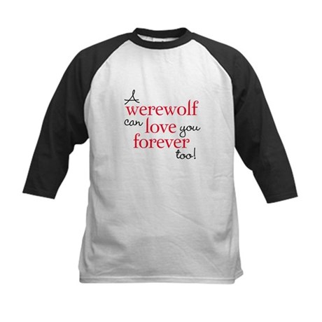 Werewolf Love Twilight Kids Baseball Jersey