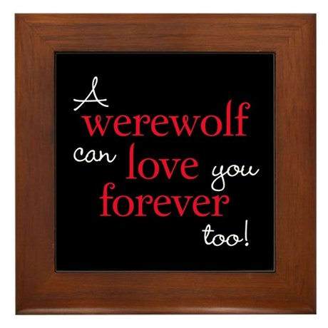 Werewolf Love Twilight Framed Tile