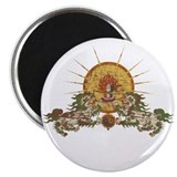 Tibetan Snow Lion Magnet