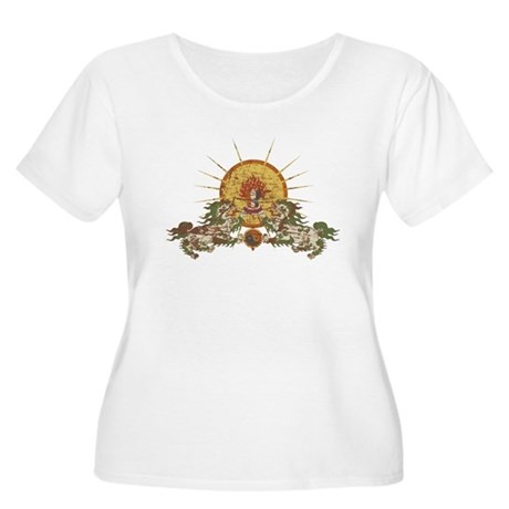 Tibetan Snow Lion Women's Plus Size Scoop Neck T-S