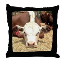 Hereford Cow Throw Pillow