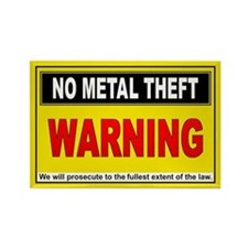 NO METAL THEFT Rectangle Magnet