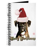 Christmas Boxer Dog Journal