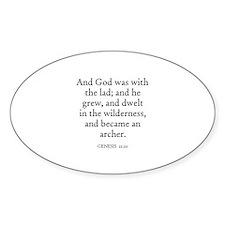 GENESIS 21:20 Oval Decal