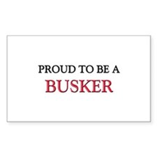 Proud to be a Busker Rectangle Decal