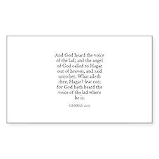 GENESIS 21:17 Rectangle Decal