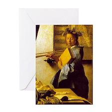 Vermeer Model detail Greeting Card