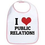 I Love Public Relations Bib