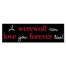 Werewolf Love Twilight Bumper Bumper Sticker