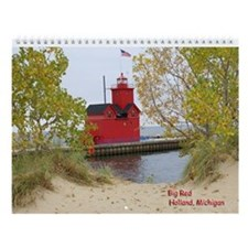 Lake Michigan Lighthouses Wall Calendar