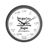 Bogosity Math Wall Clock