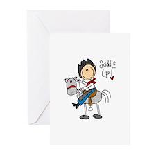 Cowboy Saddle Up Greeting Cards (Pk of 10)