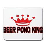 Beer Pong King Mousepad