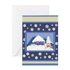 Snowflake St Bernard Greeting Card