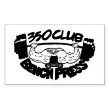 350 Club Bench Press Rectangle Decal