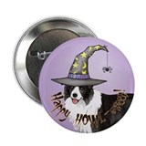 "Halloween Border Collie 2.25"" Button"
