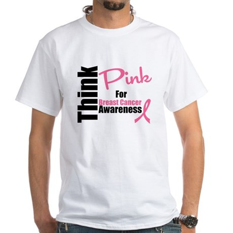Think Pink White T-Shirt
