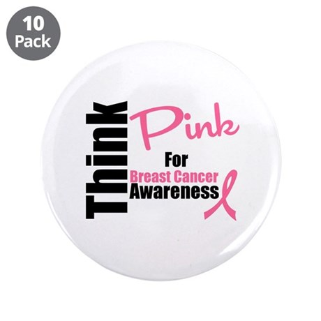 "Think Pink 3.5"" Button (10 pack)"