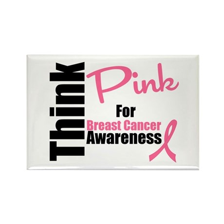 Think Pink Rectangle Magnet (10 pack)