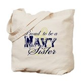 Proud Navy Sister Tote Bag