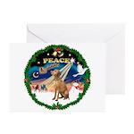 XmasSunrise/Vizsla Greeting Cards (Pk of 10)