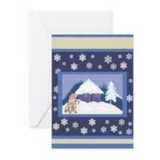Snowflake Shar Pei Greeting Cards (Pk of 10)