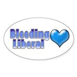 Bleeding Heart Liberal 2 Oval Decal