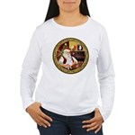 Santa's American Eskimo #5 Women's Long Sleeve T-S