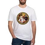 Santa's American Eskimo #5 Fitted T-Shirt