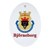 Bjorneborg Oval Ornament