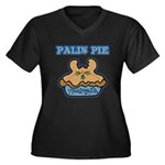 Palin Pie (Moose Berry Pie) Women's Plus Size V-Ne