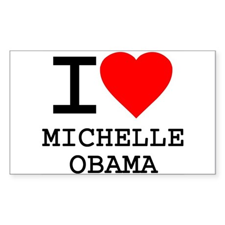 I Love Michelle Obama Rectangle Sticker