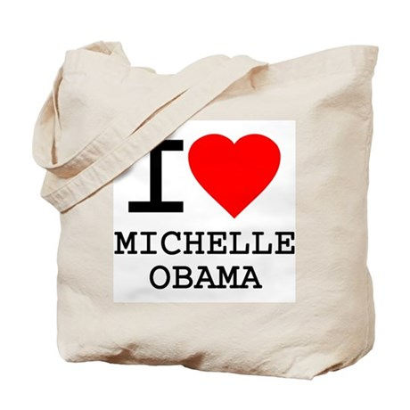 I Love Michelle Obama Tote Bag