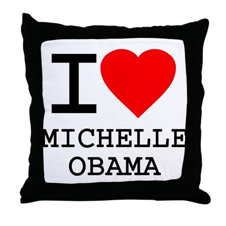 I Love Michelle Obama Throw Pillow