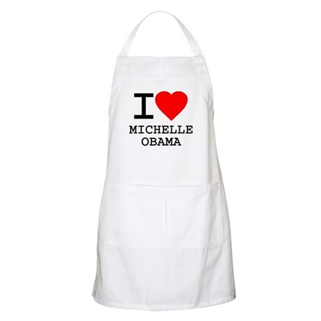 I Love Michelle Obama BBQ Apron