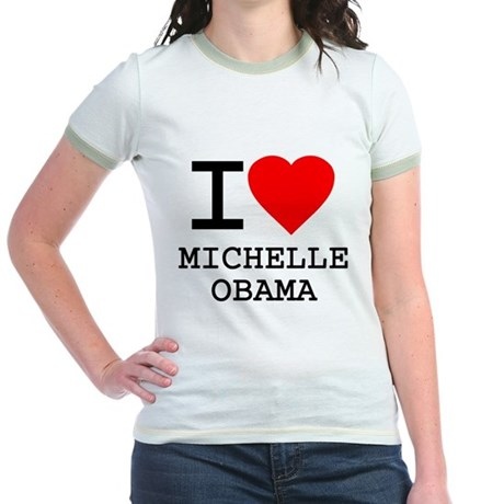 I Love Michelle Obama Jr Ringer T-Shirt