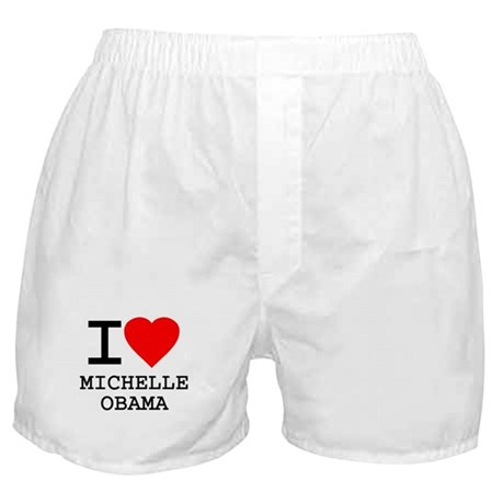 I Love Michelle Obama Boxer Shorts
