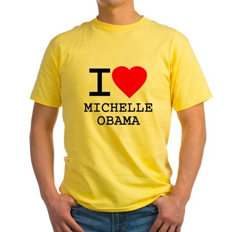 I Love Michelle Obama Yellow T-Shirt