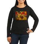 Night Cafe Women's Long Sleeve Dark T-Shirt
