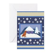 Snowflake Irish Setter Greeting Cards (Pk of 10)
