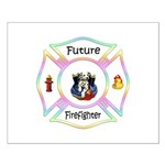Future Firefighter Pastel Small Poster