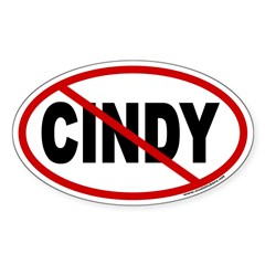 Anti Cindy Sheehan Euro Oval Sticker