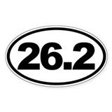 26.2 Full Marathon Oval Euro Decal