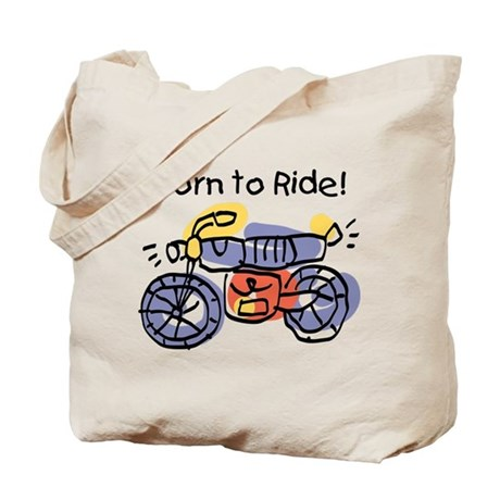 Child Art Born To Ride Tote Bag